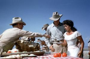 """""""Giant""""Rock Hudson,Elizabeth Taylor on the set1955 Warner Brothers**I.V. - Image 3448_0008"""
