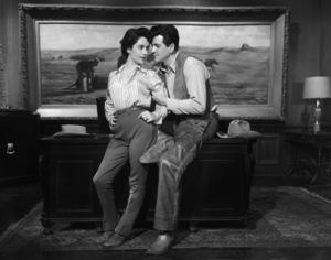 """""""Giant"""" Elizabeth Taylor, Rock Hudson1955 Warner Brothers ** I.V.  - Image 3448_0037"""