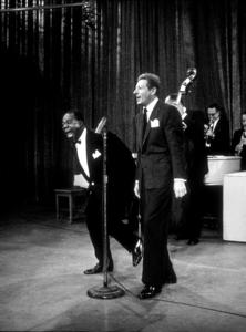 """U.S.O. Tour""Louis Armstrong and Danny Kaye, October 1958. © 1978 Gerald SmithMPTV  - Image 3454_0004"