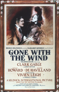 """""""Gone With the Wind"""" posterClark Gable, Vivien Leigh1939 MGM - Image 3457_0020"""
