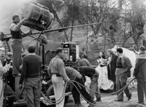 """""""Gone with the Wind""""Vivien Leigh, Thomas Mitchell, producer David O. Selznick1939 MGM - Image 3457_0057"""