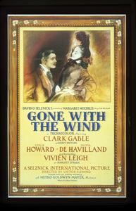 """""""Gone With the Wind""""Poster1939 Selznick / MGM**I.V. - Image 3457_0259"""