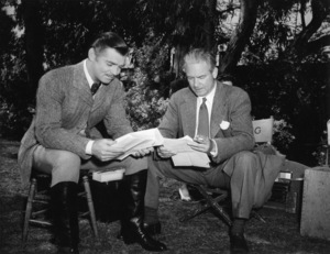 """Clark Gable and director Victor Fleming on the set of """"Gone with the Wind""""1939 MGM** B.D.M. - Image 3457_0283"""