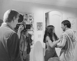 """The Graduate"" Dustin Hoffman, Katharine Ross, Mike Nichols (Dir.) On the set.1967 UA/Embassy - Image 3461_0301"