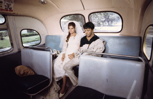 """The Graduate"" Katharine Ross, Dustin Hoffman 1967 © 1978 Bob Willoughby - Image 3461_0699"