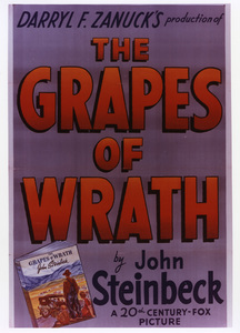 """""""The Grapes of Wrath""""Poster1940 20th Century Fox**I.V. - Image 3463_0129"""