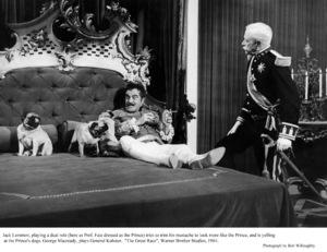 """Great Race, The""Jack Lemmon, George Macready Photo taken in 1964 / Warner Bros. © 1978 Bob Willoughby - Image 3467_0347"