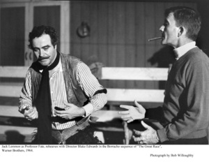 """Great Race, The""Jack Lemmon with Dir. Blake EdwardsPhoto taken in 1964 / Warner Bros. © 1978 Bob Willoughby - Image 3467_0349"