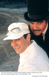 """""""Great Race, The""""Tony Curtis, Jack Lemmon Photo taken in 1964 / Warner Bros. © 1978 Bob Willoughby - Image 3467_0368"""