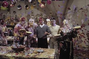 """The Great Race""Keenan Wynn, Jack Lemmon, director Blake Edwards, Tony Curtis, Peter Falk1965© 1978 Bob Willoughby - Image 3467_0433"