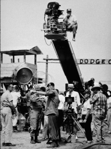 """""""The Green Berets,"""" Warner Bros. 1968.Directors, John Wayne and Ray Kellogg, during filming. - Image 3469_0102"""