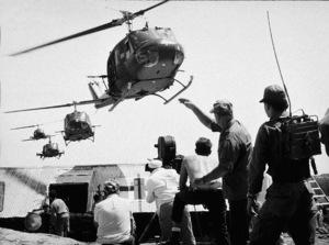 """The Green Berets,"" Warner Bros. 1968.John Wayne, co-director, during filming. - Image 3469_0105"