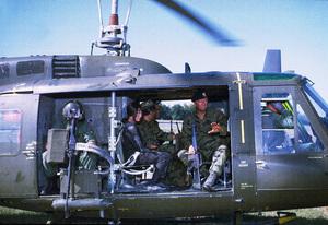 """The Green Berets,"" Warner Bros. 1967.Irene Tsu and John Wayne. © 1978 David Sutton - Image 3469_0247"
