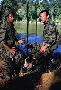 """The Green Berets,"" Warner Bros. 1967.Raymond St. Jacques and David Janssen. © 1978 David Sutton - Image 3469_0253"