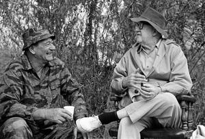 """The Green Berets""John Wayne, John Ford1968 Batjac Productions © 1978 David Sutton - Image 3469_0297"