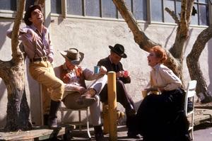 """Gunsmoke""Dennis Weaver, James Arness, Milburn Stone, Amanda Blake1961 CBS © 1978 Gene TrindlMPTV - Image 3470_0022"
