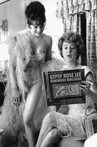 """Gypsy,""Gypsy Rose Lee visits withNatalie Wood on the set, 1962. - Image 3471_0128"