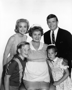 """Hazel""Lynn Borden, Bobby Buntrock, Shirley Booth1965Photo by Gabi Rona - Image 3479_0008"