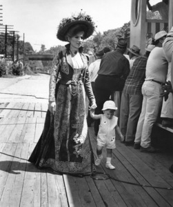 """Hello Dolly""Barbra Streisand with son Jason Gould on the set1969 20th Cent. Fox - Image 3483_0039"
