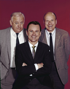 "Bob Crane, John Banner and Werner Klemperer of ""Hogan"