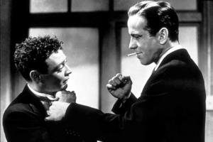 """The Maltese Falcon""Peter Lorre and Humphrey Bogart1941 Warner Bros.MPTV - Image 3570_0009"