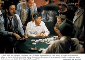 """Man With The Golden Arm, The""Robert Strauss, Frank Sinatra & Darren McGavin / 1955 © 1978 Bob Willoughby - Image 3575_0030"