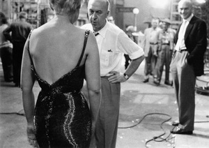 """""""The Man with the Golden Arm""""Director Otto Preminger, Kim Novak, Yul Brynner1955 United Artists © 1978 Bob Willoughby - Image 3575_0098"""