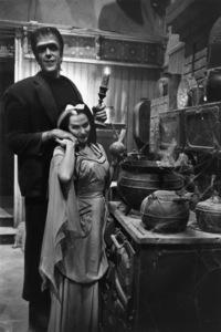 """The Munsters""Fred Gwynne, Yvonne De Carlo1964© 1978 Bob Willoughby - Image 3600_0119"