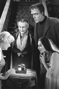 """The Munsters"" Beverly Owen, Al Lewis,Fred Gwynne, Yvonne De Carlo1964 CBS © 1978 Bob Willoughby - Image 3600_0135"