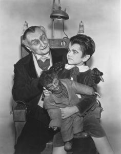"""""""The Munsters""""Al Lewis and Butch Patrick with Wolfiecirca 1964** Part of the Kevin Burns Collection - Image 3600_0190"""