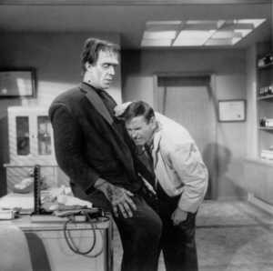 """""""The Munsters""""Fred Gwynne and Paul Lyndecirca 1964** Part of the Kevin Burns Collection - Image 3600_0198"""