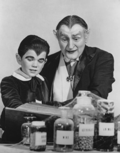 """""""The Munsters""""Butch Patrick and Al Lewiscirca 1964** Part of the Kevin Burns Collection - Image 3600_0213"""
