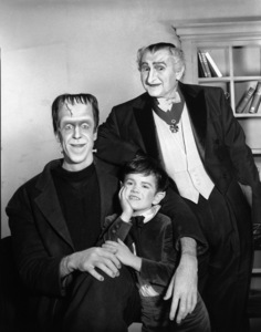 """""""The Munsters""""Fred Gwynne, Butch Patrick, Al Lewiscirca 1964** Part of the Kevin Burns Collection - Image 3600_0282"""