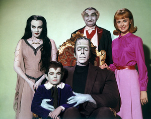 """""""Munster, Go Home""""Yvonne De Carlo, Butch Patrick, Fred Gwynne, Al Lewis, Debbie Watson1966** Part of the Kevin Burns Collection - Image 3600_0292"""