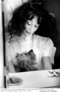 """""""My Fair Lady""""Audrey Hepburn with dog Assam.1963 / Warner Brothers © 1978 Bob Willoughby - Image 3604_0616"""