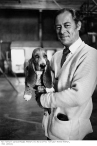 """""""My Fair Lady""""Rex Harrison with pet.1963 / Warner Brothers © 1978 Bob Willoughby - Image 3604_0843"""