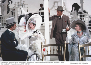"""My Fair Lady""Jeremy Brett, Audrey Hepburn, Rex Harrison, Gladys Cooper.  1963 / Warner Brothers. © 1978 Bob Willoughby - Image 3604_0875"