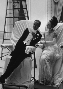 """Audrey Hepburn and Rex Harrison on the set of """"My Fair Lady,"""" 1964. © 1978 Mel Traxel MPTV - Image 3604_18"""