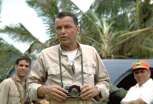 """""""None But The Brave""""Frank Sinatra on location. © 1965 WarnerPhoto by Ted Allan - Image 3619_0004"""