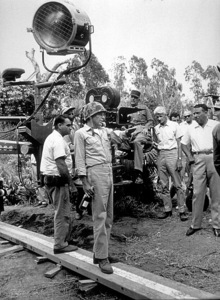 """""""None But The Brave""""Frank Sinatra directing on the set.1964 Warner/ © 1978 David Sutton - Image 3619_0121"""