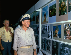 """None But The Brave""Frank Sinatra reviewing the picture gallery, 1965. © 1978 Ted Allan - Image 3619_0134"