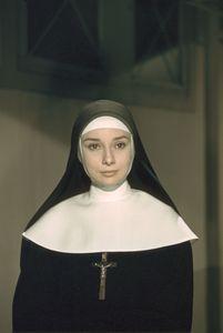 """Audrey Hepburn in """"The Nun"""