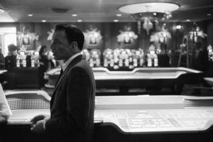 "Frank Sinatra on a break from the filming of ""Ocean"