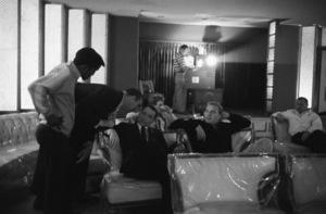 Sammy Davis Jr., Jack Entratter and Frank Sinatra at the Sands Hotel in Las Vegas in Jack Entratter
