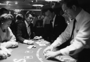 Dean Martin and Frank Sinatra at the Blackjack tables after the last show at the Sands Hotel in Las Vegas 1960 © 1978 Bob Willoughby - Image 3625_0099