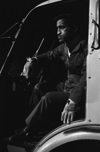 "Sammy Davis Jr. during the making of ""Ocean"