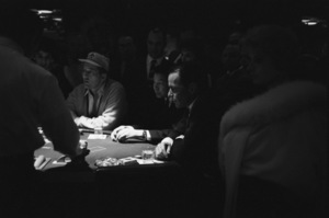 Frank Sinatra playing cards at the Sands Hotel in Las Vegas1960 © 1978 Bob Willoughby - Image 3625_0106