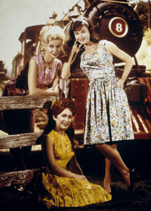 """Petticoat Junction""Linda Kaye Henning, Lori Saunders, Gunilla Hutton1965Photo by Gabi Rona - Image 3650_0006"