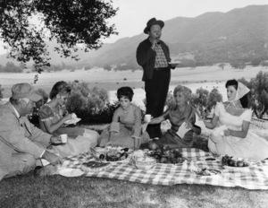 """Petticoat Junction"" Edgar Buchanan, Linda Henning, Jeannine Riley, Pat Woodell circa 1965 Photo by Gabi Rona - Image 3650_0013"