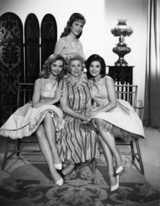 """Petticoat Junction""Pat Woodell, Linda Henning, Bea Benaderet, Jeannine Rileycirca 1964Photo by Gabi Rona - Image 3650_0020"